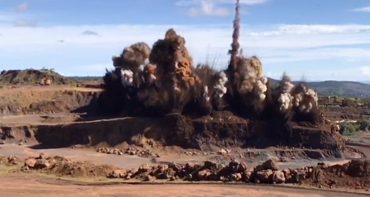 En la Mina Los Barrancos Ferrominera Orinoco logra más de 450 mil toneladas de mineral volado