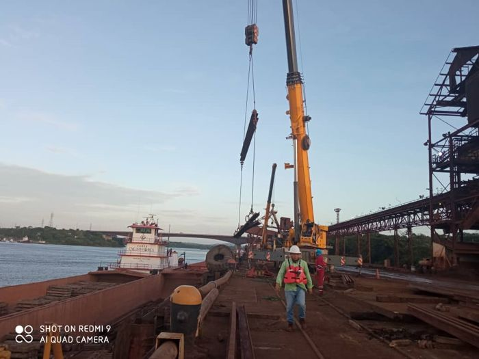 Estatal minera donó rieles, durmientes y aportará mano de obra calificada a CVG Bauxilum
