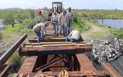 En el km 59 Ferrocarril ejecuta rehabilitación de puente ferroviario El Lindero