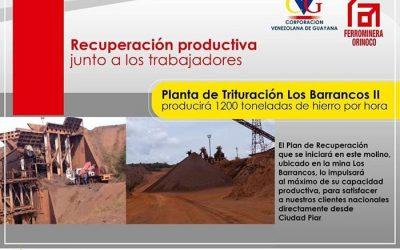 Planta de Trituración Los Barrancos II producirá 1200 Ton/h de Fe