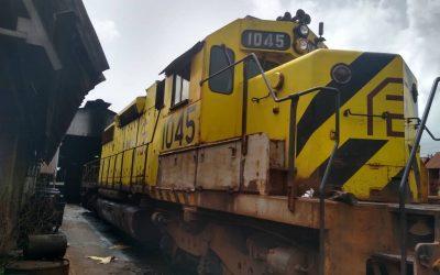 Ferrominera incorpora locomotora 1045 a la producción