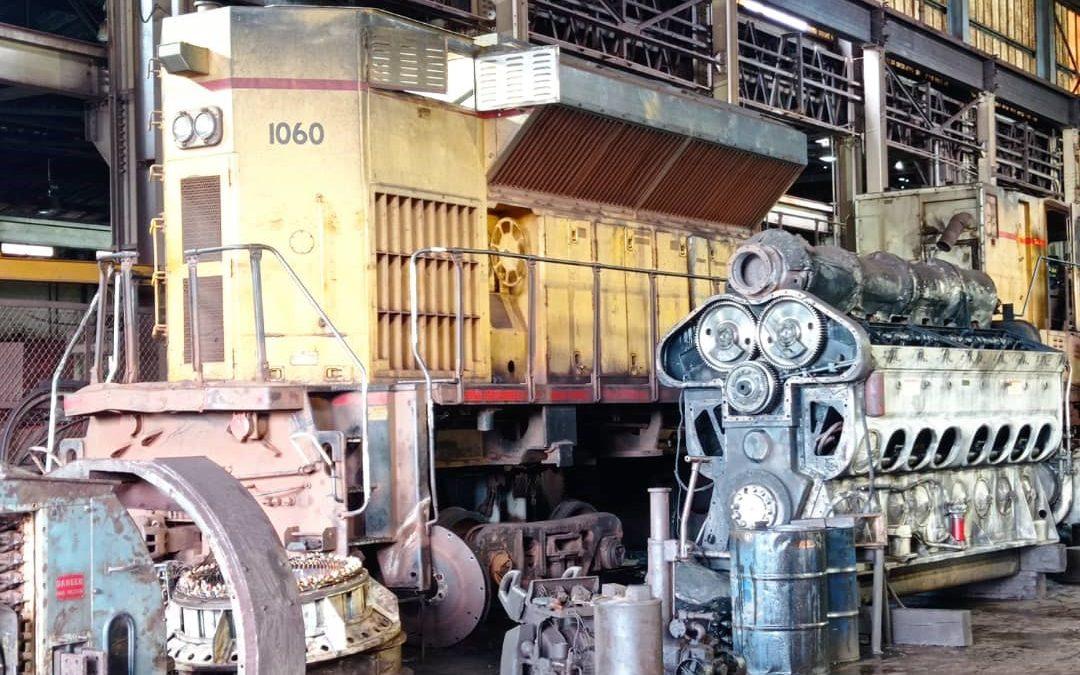 Ferrominera avanza en su segunda etapa del Plan de Recuperación de Locomotoras