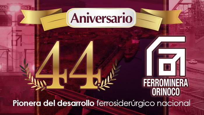 Aniversario No 44 de Ferrominera Orinoco